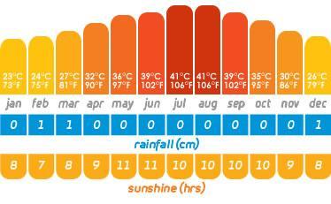 Dubai Weather Chart