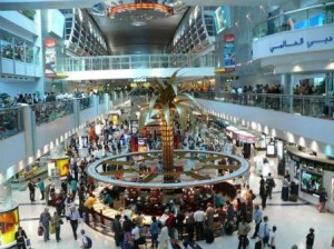 Terminal 1 and Concourse at Dubai International Airport
