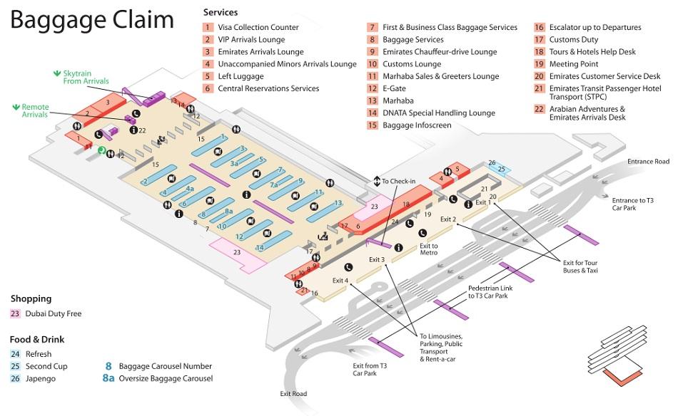 Emirates Terminal 3 Baggage Claim