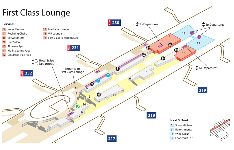 Lounge Dubai Airport Terminal 3 Dubai Airport Terminal 3 Map