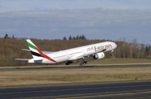 Emirates Boeing 777 to Newcastle